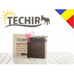 Sapun natural anticelulitic cu namol si cafea Techir 120 gr