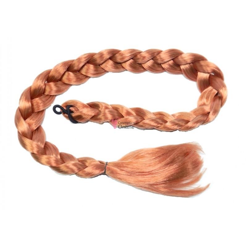 Coada De Par Impletita Blond Piersica De 85cm Cod Bp085