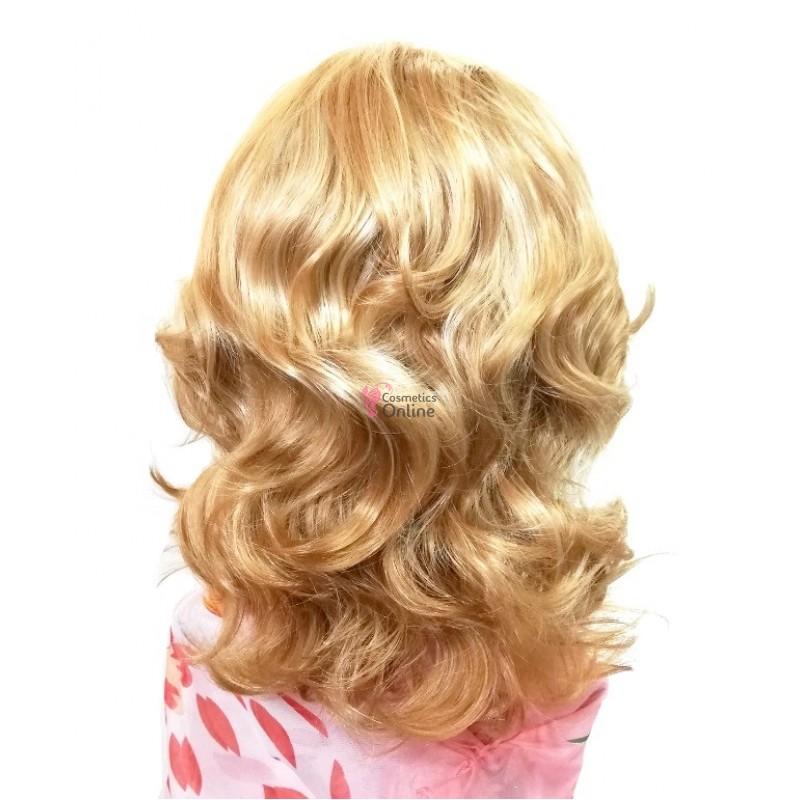 Peruca Din Par Artificial Pb021 Par Lung Ondulat Blond Auriu Mixt