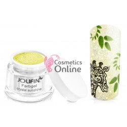Gel UV Jolifin cu sclipici Crystal Sunshine 5 ml