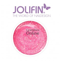Gel UV Jolifin cu sclipici Diamond Girly Pink 5 ml