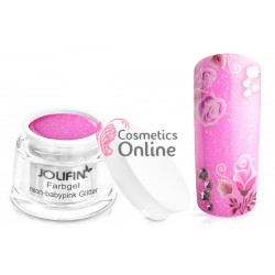 Gel UV Jolifin cu sclipici Neon Baby Pink Glitter 5 ml