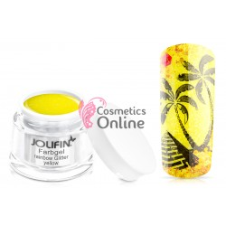Gel UV Jolifin cu sclipici Rainbow Glitter Yellow 5 ml
