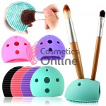 Brush egg pentru curatat pensulele de Make-Up cu suport, Mov BR02