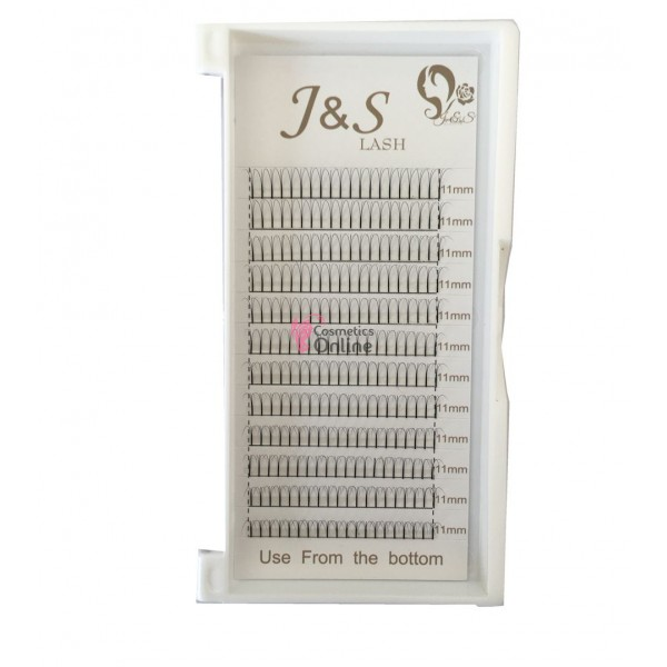 Gene false individuale J&S LASH 3D, D/0.07 de 14mm
