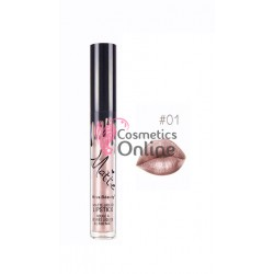 Gloss pentru buze Kiss Beauty Matte - Metalic de 6 ml Cod 01