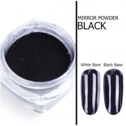 Pigment mirror chrome effect pentru Gel UV sau Acril, CE06 + 1 aplicator Black