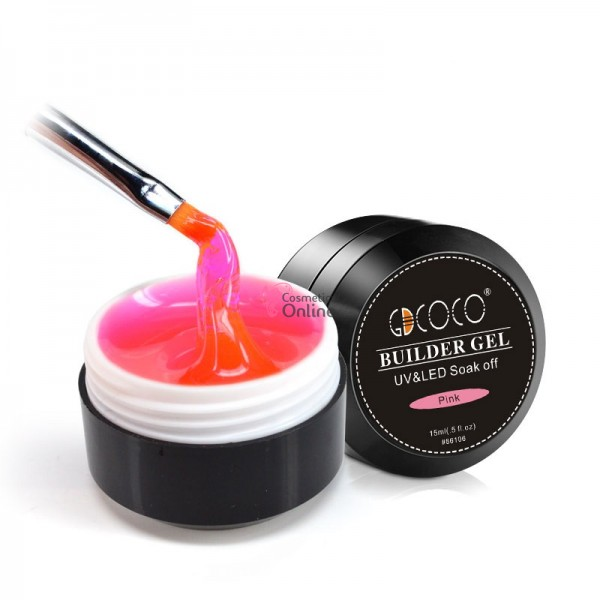 Gel UV / LED GDCOCO BUILDER GEL de constructie, 15ml - Pink (Roz)