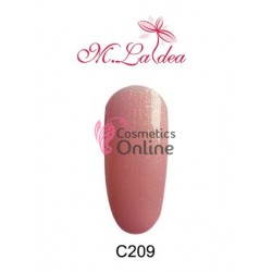 Gel UV / LED Soak Off M Ladea colorat cu sidefat 5gr Cod C209 Rose Gold