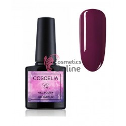 Oja semipermanenta Coscelia color UV / LED de 8 ml Cod 025 Dark Ruby