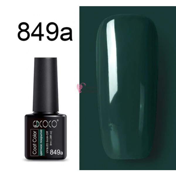 Oja Semipermanenta GDCOCO UV / LED de 8ml Cod 849a Cobalt Green