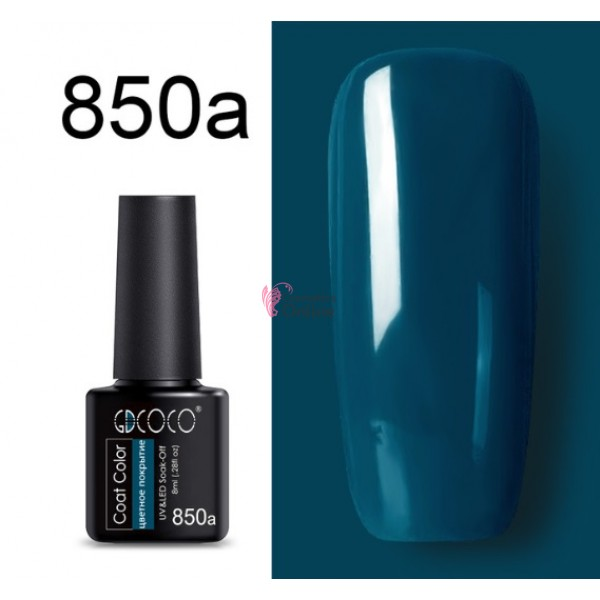 Oja Semipermanenta GDCOCO UV / LED de 8ml Cod 850a Teal