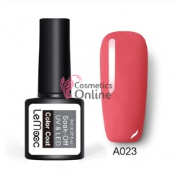 Oja semipermanenta LeMooc color UV / LED de 8 ml Cod A023 Venetian Rose