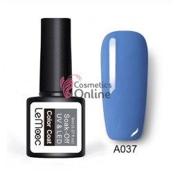 Oja semipermanenta LeMooc color UV / LED de 8 ml Cod A037 Venetian Blue