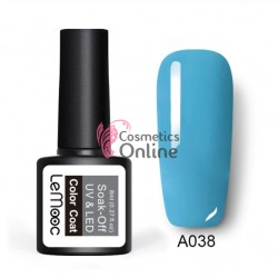 Oja semipermanenta LeMooc color UV / LED de 8 ml Cod A038 Briliant Blue