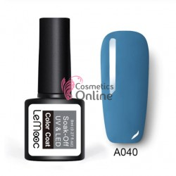 Oja semipermanenta LeMooc color UV / LED de 8 ml Cod A040 Montana Blue