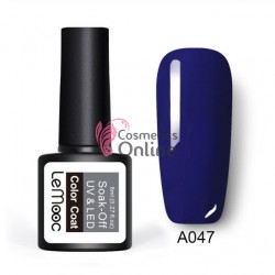 Oja semipermanenta LeMooc color UV / LED de 8 ml Cod A047 King Blue