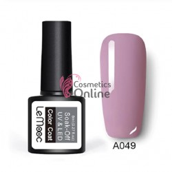 Oja semipermanenta LeMooc color UV / LED de 8 ml Cod A049 Quin Rose