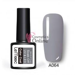 Oja semipermanenta LeMooc color UV / LED de 8 ml Cod A064 Titanium Grey