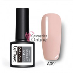 Oja semipermanenta LeMooc color UV / LED de 8 ml Cod A091 Napal Peach