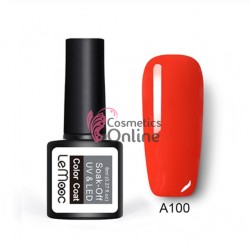 Oja semipermanenta LeMooc color UV / LED de 8 ml Cod A100 Red Fire