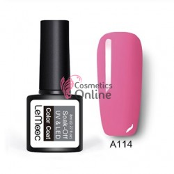 Oja semipermanenta LeMooc color UV / LED de 8 ml Cod A114 Soft Pink