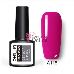 Oja semipermanenta LeMooc color UV / LED de 8 ml Cod A115 Magenta Quin