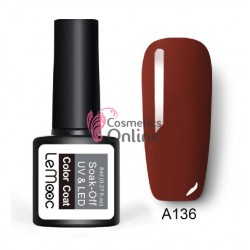 Oja semipermanenta LeMooc color UV / LED de 8 ml Cod A136 Royal Brown