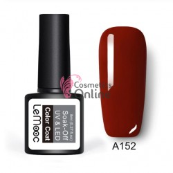 Oja semipermanenta LeMooc color UV / LED de 8 ml Cod A152 Burgundy