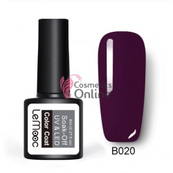 Oja semipermanenta LeMooc color UV / LED de 8 ml Cod B020 Dark Violet