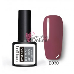 Oja semipermanenta LeMooc color UV / LED de 8 ml Cod B030 Rose Purple