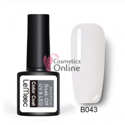 Oja semipermanenta LeMooc color UV / LED de 8 ml Cod B043 Milky White
