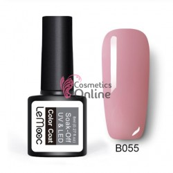 Oja semipermanenta LeMooc color UV / LED de 8 ml Cod B055 Light Rose