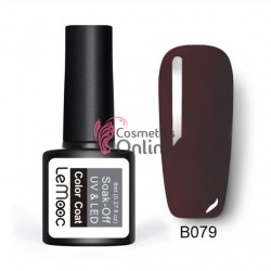 Oja semipermanenta LeMooc color UV / LED de 8 ml Cod B079 Burn Umber