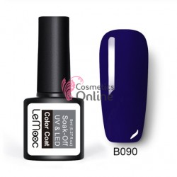 Oja semipermanenta LeMooc color UV / LED de 8 ml Cod B090 Ultramarine Blue