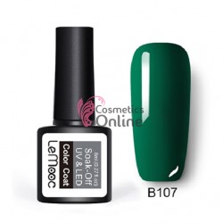 Oja semipermanenta LeMooc color UV / LED de 8 ml Cod B107 Safire Green