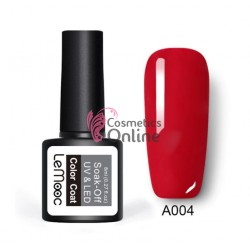 Oja semipermanenta LeMooc color UV / LED de 8 ml Cod A004 Red Fire