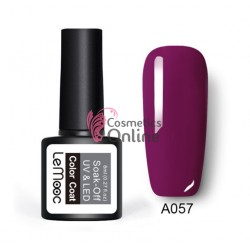 Oja semipermanenta LeMooc color UV / LED de 8 ml Cod A057 Violetto