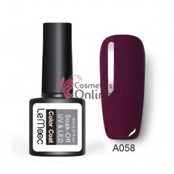 Oja semipermanenta LeMooc color UV / LED de 8 ml Cod A058 Bordeaux