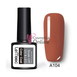 Oja semipermanenta LeMooc color UV / LED de 8 ml Cod A104 Mild Brown