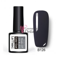 Oja semipermanenta LeMooc color UV / LED de 8 ml Cod B126 Hematite