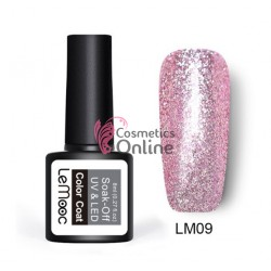 Oja semipermanenta LeMooc Platinum Effect UV / LED de 8 ml Cod LM09 Rose