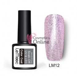 Oja semipermanenta LeMooc Platinum Effect UV / LED de 8 ml Cod LM12 Light Rose