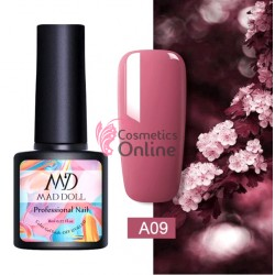 Oja semipermanenta Mad Doll Profesional Nail UV / LED de 8 ml - A09 Red Violet