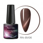 Oja semipermanenta Rban Nail 3D Cat Eye Magnetic de 6 ml - BV06