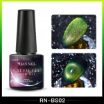 Oja semipermanenta Rban Nail 9D Cameleon Galaxy Cat Eye de 6 ml - BS02