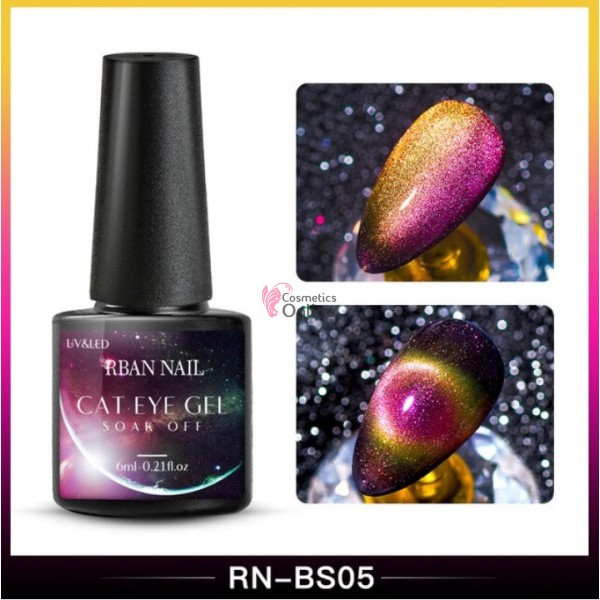 Oja semipermanenta Rban Nail 9D Cameleon Galaxy Cat Eye de 6 ml - BS05