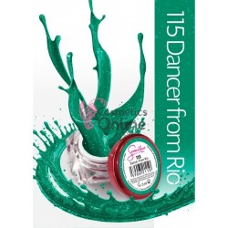 Gel uv Semilac Geltaq color 115 verde cu sclipici Dancer from Rio 5 ml