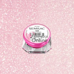 Gel uv Semilac Geltaq color 164 roz cu sclipici Pink Crystals 5 ml