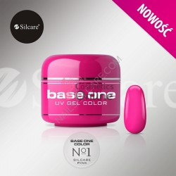 Gel UV Base One Silcare color Pink 01 5ml
